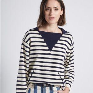 NEW Current Elliott Elsie Stripe Nautical Sweater